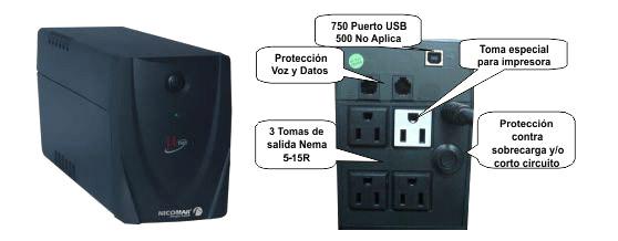 UPS Nicomar 500VA